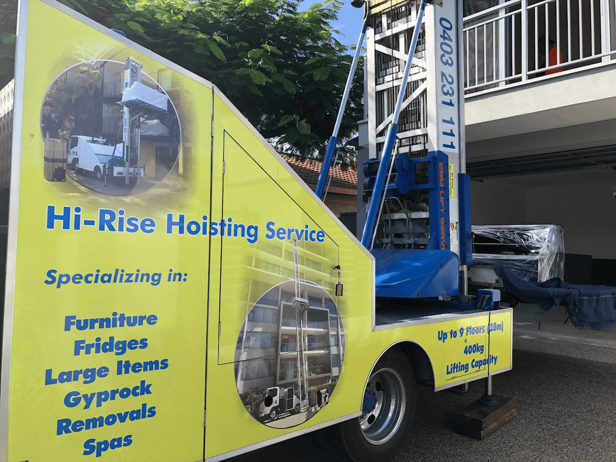 move_building_materials_with_crane_hoist_brisbane